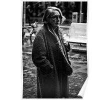 Cranky lady on Bourke Poster