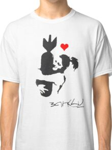 Banksy Hugger Red Classic T-Shirt