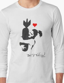 Banksy Hugger Red Long Sleeve T-Shirt
