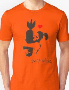 Banksy Hugger Red Unisex T-Shirt