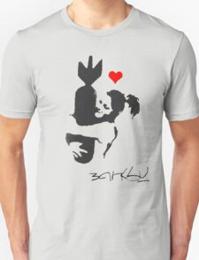 Banksy Hugger Red T-Shirt