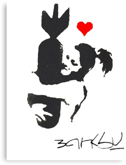Banksy Hugger Red by H Powell