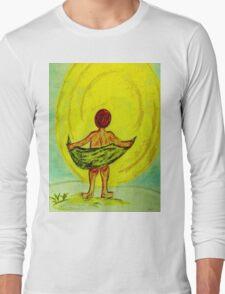 Toweling at the Moon Long Sleeve T-Shirt