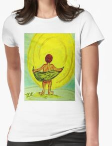 Toweling at the Moon Womens Fitted T-Shirt