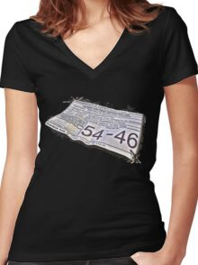 54-46 Was My Number Women's Fitted V-Neck T-Shirt