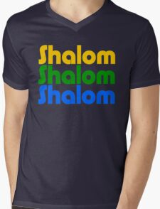 Shalom (Colour) Mens V-Neck T-Shirt