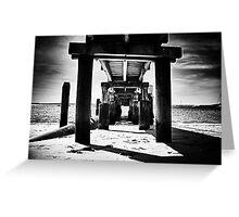 Shoal bay pier hdr 2 Greeting Card
