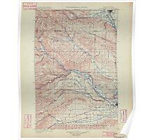 USGS Topo Map Washington State WA Ellensburg 241018 1901 125000 Poster