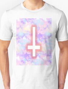 Pastel Upside-Down Cross  T-Shirt