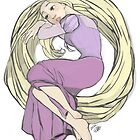 Rapunzel  by Edomame