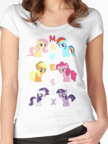 Mane 6 Fillies Women's Fitted Scoop T-Shirt