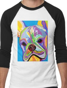 French Bulldog Men's Baseball ¾ T-Shirt