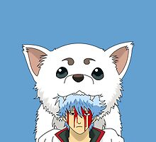 Gintoki and Sadaharu by PIAL008