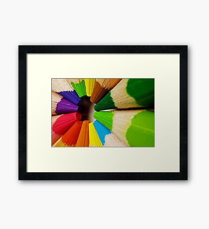Colouring Pencils Framed Print