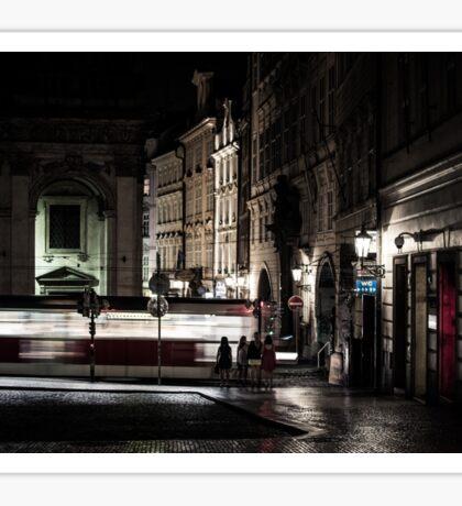 A Night in Prague Sticker