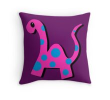 Poppi the Pink Dinosaur Throw Pillow