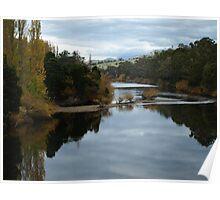 Derwent River Autumn Tasmania Poster