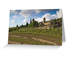 Italian Vineyard Greeting Card