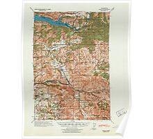 USGS Topo Map Washington State WA Yacolt 244799 1941 62500 Poster