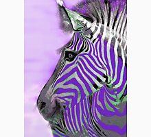 Zebra Abstract Purple Unisex T-Shirt