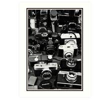 Vintage Camera's   Art Print