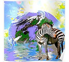 Zebra:  Earth A Home For All Poster