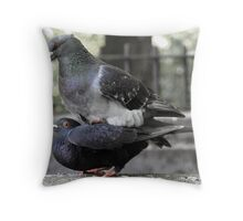 Love Birds by the River Kelvin Throw Pillow