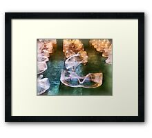 Rows of Safety Goggles Framed Print