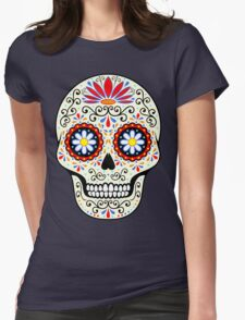 sugar skull Womens Fitted T-Shirt