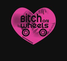 Roller Derby Bitch on Wheels Womens Fitted T-Shirt