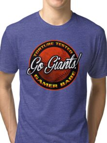 Giants Gamer Babe Tri-blend T-Shirt