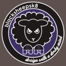 Black Sheep Sk8 Roller Derby Logo Purple by LucyDynamite