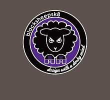 Black Sheep Sk8 Roller Derby Logo Purple Womens Fitted T-Shirt