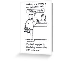 Librarian Humor. Greeting Card
