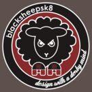 Roller Derby Black Sheep Sk8 logo by LucyDynamite