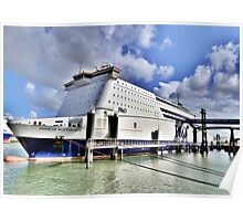 M S Pride  of Rotterdam. Poster
