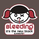 Roller Derby Bleeding it's the new Black by Black Sheep Sk8 by LucyDynamite