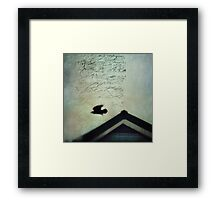 This roof is my home Framed Print