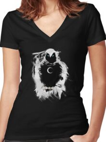 Rhymes with loony Women's Fitted V-Neck T-Shirt