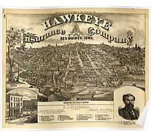 Panoramic Maps A T Andreas illustrated historical atlas of the State of Iowa 005 Poster