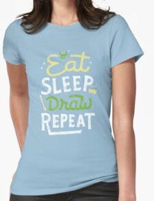 Repeated Womens Fitted T-Shirt