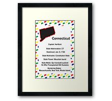Connecticut Information Educational Framed Print
