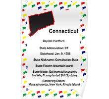 Connecticut Information Educational Poster