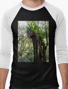 Rainforest, Minnamurra Falls, Illawarra, Australia. Men's Baseball ¾ T-Shirt
