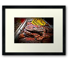 All that crab! Framed Print