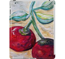 Cherries on White Chocolate iPad Case/Skin