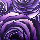 Violet Roses by Chris  Sowels