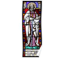 Stained Glass - St Alban Poster