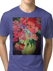 Fanciful Flowers Tri-blend T-Shirt