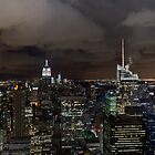 New York skyline at night by Gary Eason + Flight Artworks